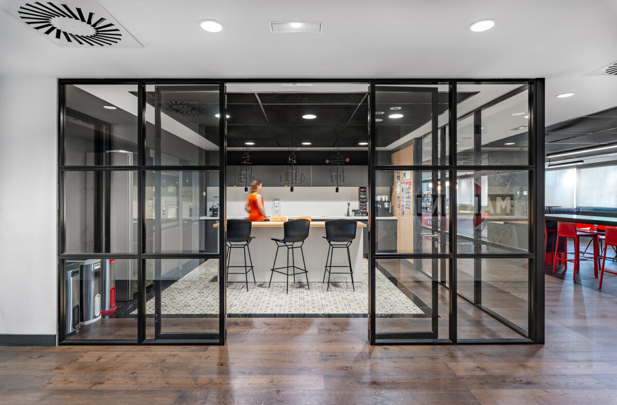 IA -Interior Architects -Bacardi Barcelona open office kitchen for employees