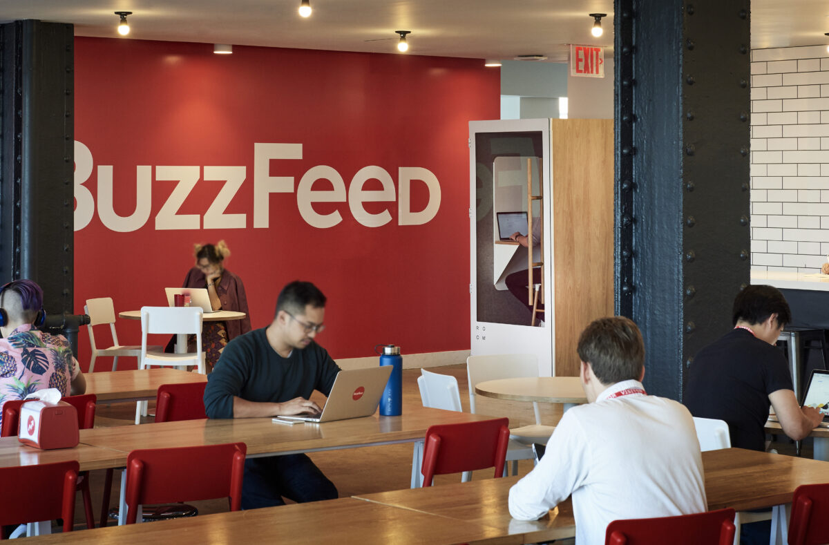 buzzfeed office canteen with room soundproof office phone booth