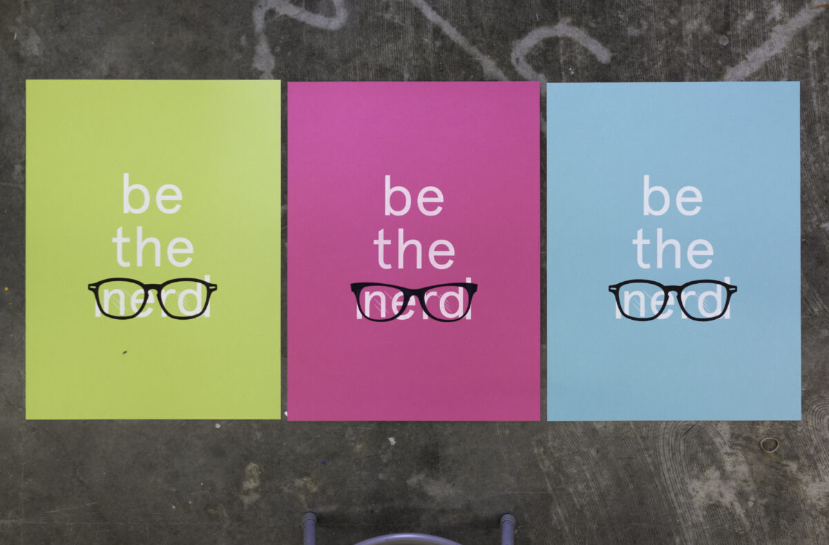 Facebook Iconic Be The Nerd poster