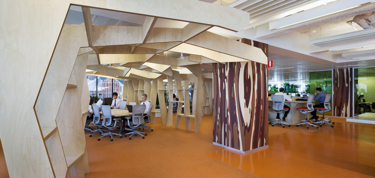 Conference rooms in Activity Based Working offices can be in the open