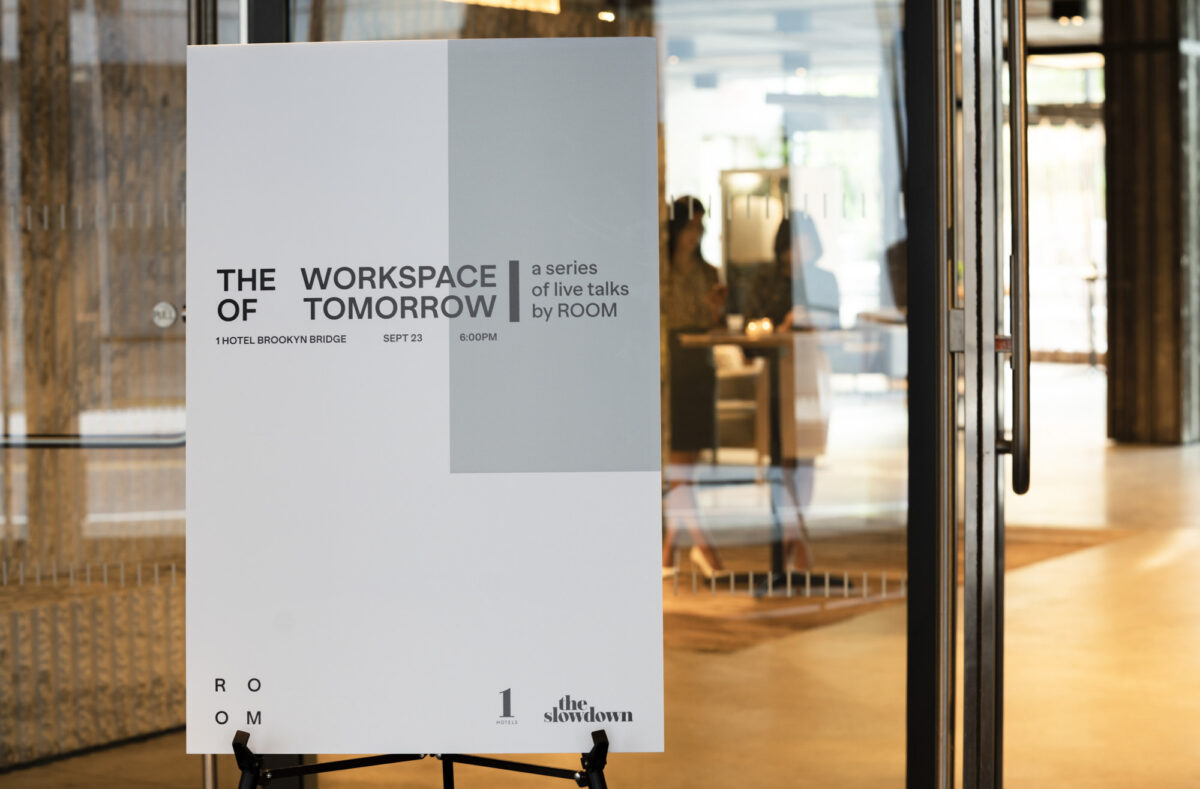 The Workspace of Tomorrow welcome sign