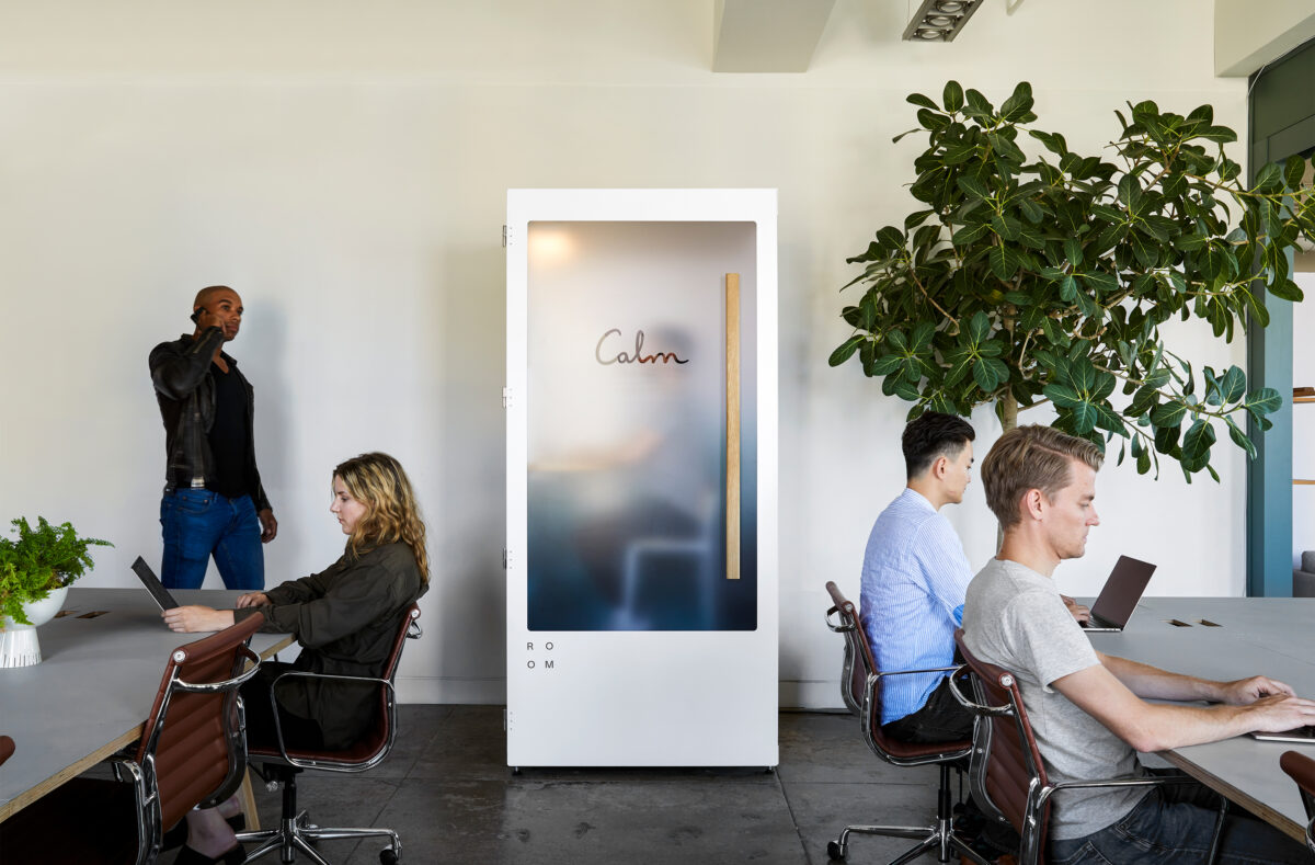 The Calm Booth by ROOM in an open office